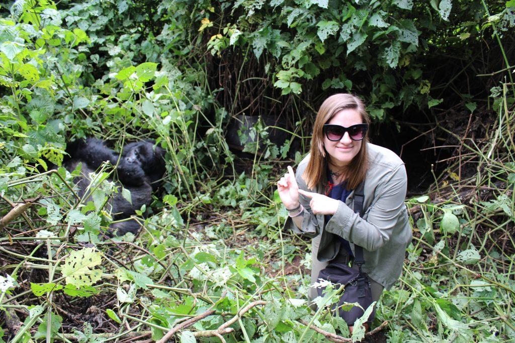 With my gorilla family in Uganda (Photo: Emily O'Dell)