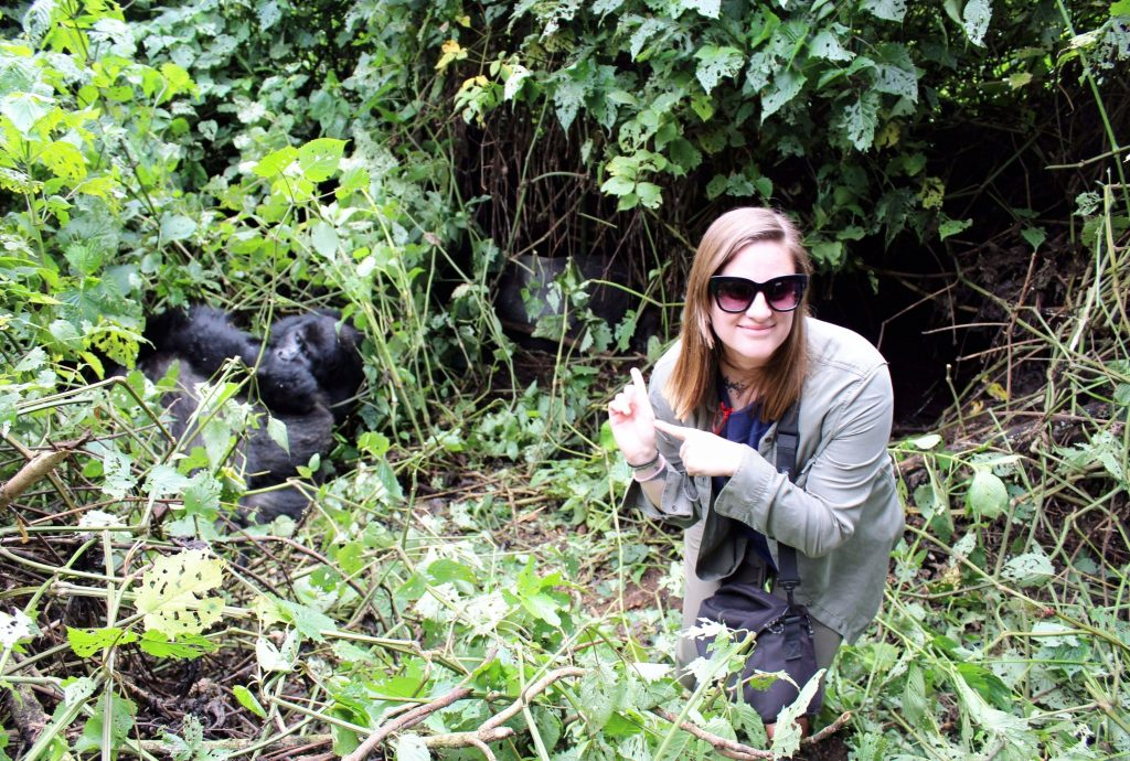Hanging with my Gorilla family in Uganda