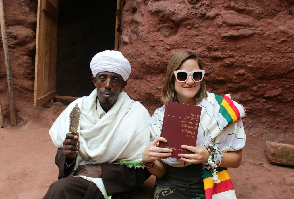 Speaking Ge'ez in Lalibela (Photo: Emily O'Dell)