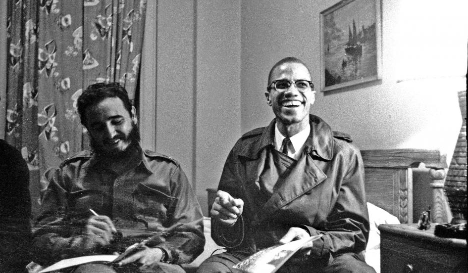 Malcolm and Castro in Harlem